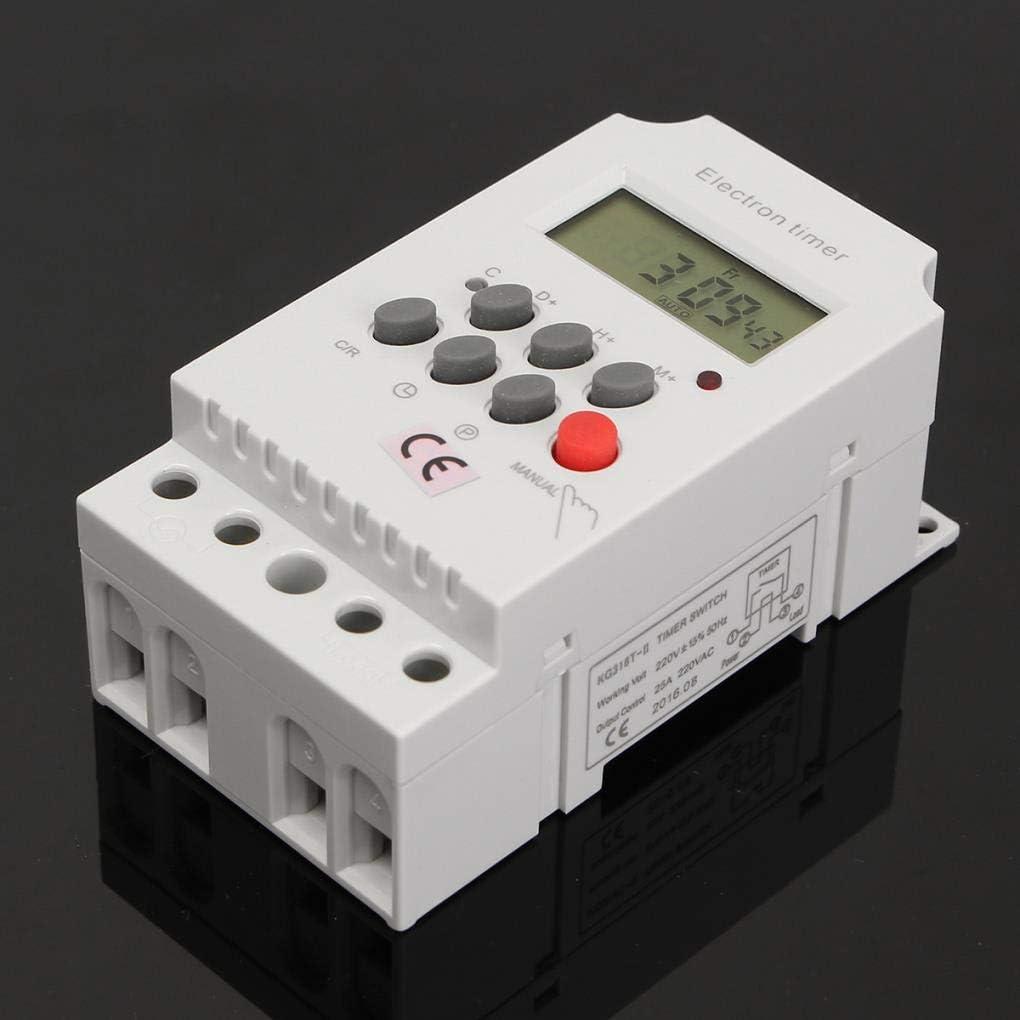 Yongse Minuterie /électronique num/érique AC 220V 25A Din Rail Programmable