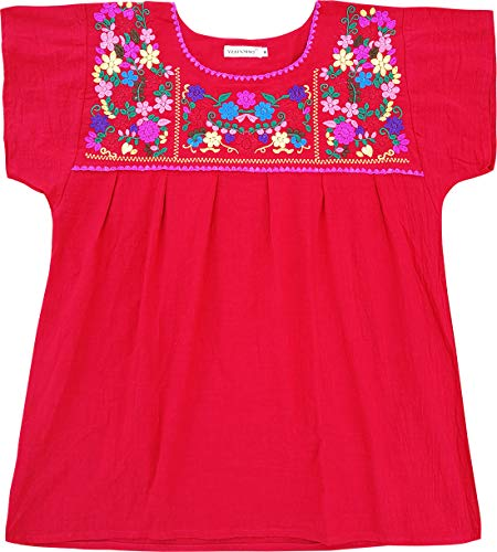 (YZXDORWJ Embroidered Mexican Peasant Blouse (XXL, 290R))