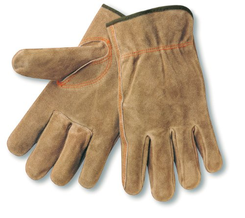 MCR Safety 3110S Premium Grade Cow Split Leather Driver Unlined Men's Gloves with Keystone Thumb, Brown, Small, 1-Pair Memphis Split Leather Driver