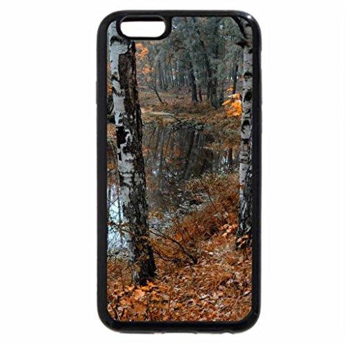 iPhone 6S Case, iPhone 6 Case (Black & White) - still river in winter