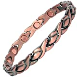 MPS Adya Copper Rich Magnetic Therapy Bracelet + Free Links Removal Tool