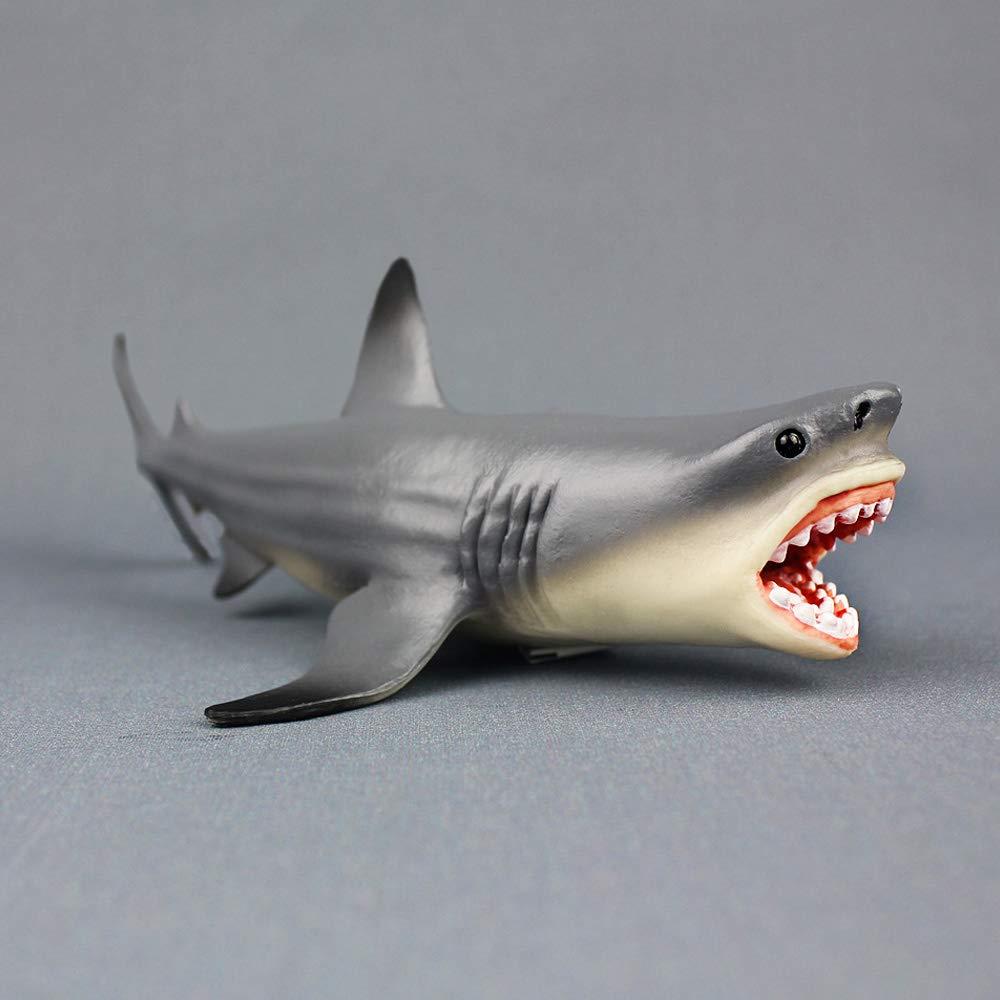 Amakunft Megalodon - Adorno para Acuario, diseño de tiburón, Resina Duradera, Seguro para Todos los Peces y Mascotas acuáticas, Juguetes Meg para niños y ...