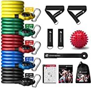Nintheath Resistance Bands Set, Exercise Bands Fitness Stretch Workout Bands Kit 5 Training Tubes Up to 150 lb