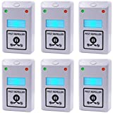 #8: 6PCS Pest Control, Latest Dual Wave Bands Koocat Ultrasonic Pest Repeller Repellent Repels Rodents, Rats, Mice, Squirrels, Insects, Bugs, Spiders, Cockroaches, Flies, Ants [Free Night Light]