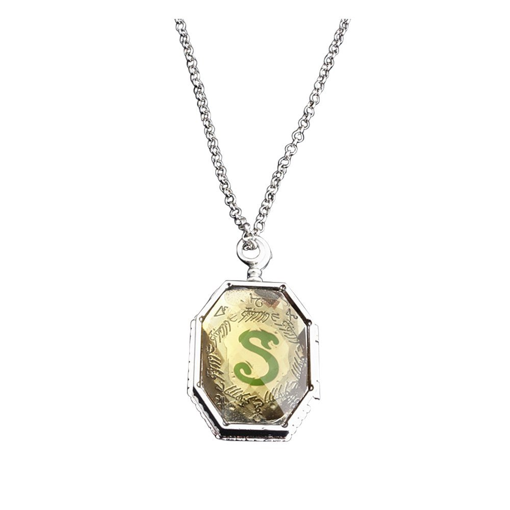 Magical Jewelry Gift Co. Slytherin Snake Horcrux Locket Chain Necklace - Metal (2.2 oz)