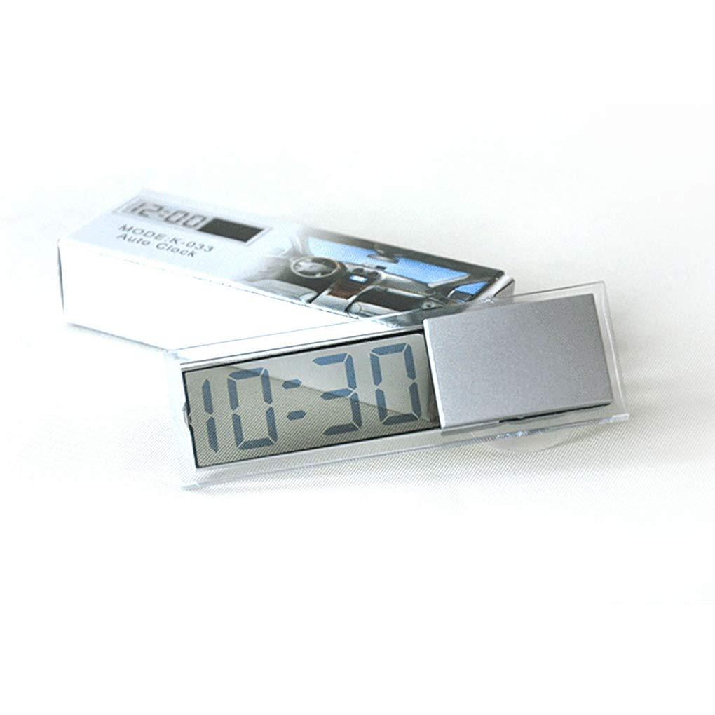 Jiangxinshenghuo Car Windshield Dashboard Digital Clock Transparent Design Suction Clock Car Styling Accessories