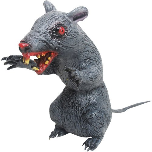 Sitting Evil Rat Latex Halloween Prop