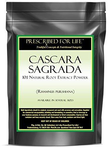 Cascara Sagrada - 10:1 Natural Root Extract Powder (Rhamnus purshiana), 4 oz by Prescribed For Life - Cascara Sagrada Root