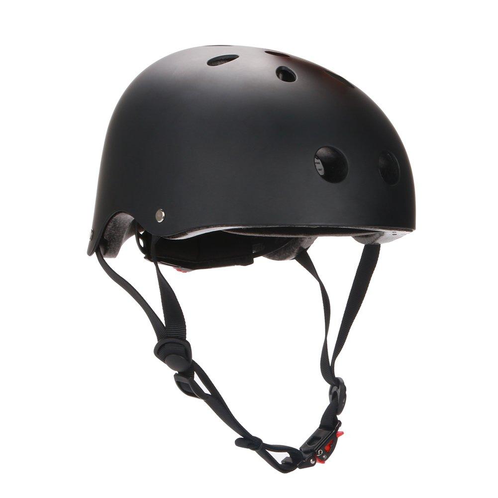 BMX Helmet,Black Helmet One Size for Womens Mens Youth Kids Child Boys Girls