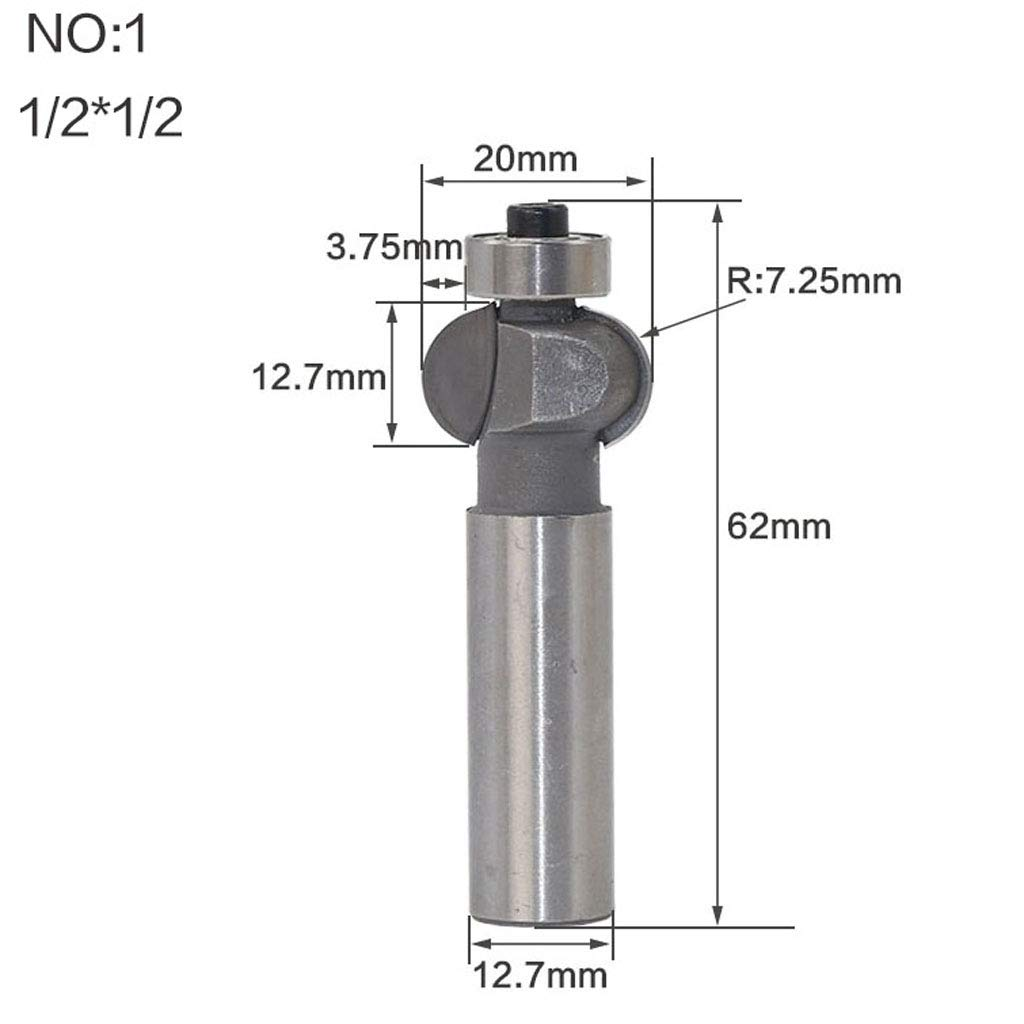 Frese Router Bit per Legno a 1//2 pollice per Fresa da Fragola 0,87 pollici Lunghezza lama di 22,2 mm