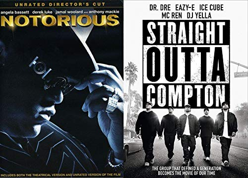 Music Generation Straight Outta Compton & Notorious Double DVD Feature Dr. Dre / Easy-E / Ice Cube / DJ Yeller / Mc Ren / B.I.G. Movie Pack ()