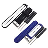 Replacement Bands Compatible with Garmin Forerunner 220 230 235 630 620 735 Approach S20 S6 S5 Bands Silicone Breathable Bracelet Strap Watch Bands for Forerunner 735xt Approach S20 Smartwatch