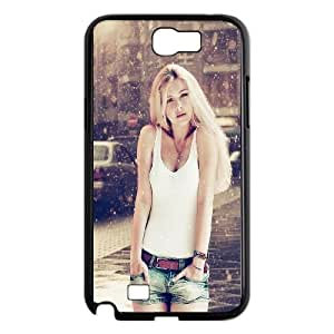 Samsung Galaxy N2 7100 Cell Phone Case Black_Beautiful Sexy Woman Winter Snow Amtnj