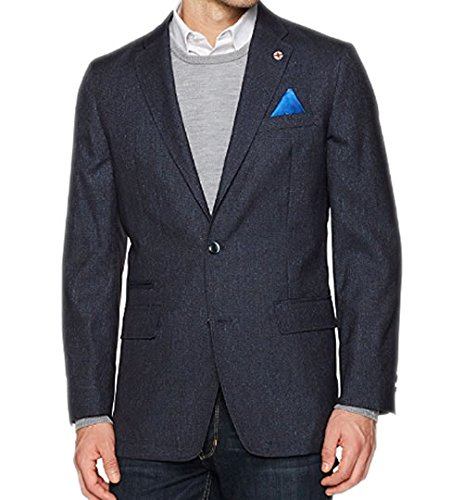 Ben Sherman Men's Two Button Slim Fit Mini Check Sportcoat, Blue/Red, 42R by Ben Sherman (Image #2)