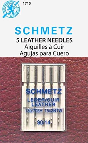 Leather Machine Needles-Size 14/90 5/Pkg - Pkg Sandy