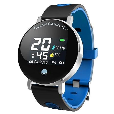 wangwtry Bluetooth Smart Pulsera Agua Densidad Fitness Tracker Pantalla a Color Tensiómetro de frecuencia cardíaca Salud