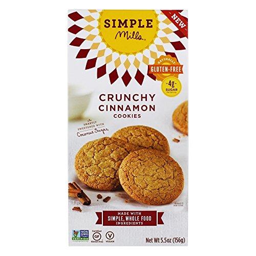 Almond Cinnamon Cookies (Simple Mills Naturally Gluten Free Crunchy Cookies, Cinnamon, 5.5 oz)
