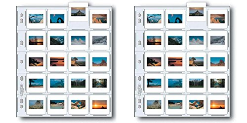 Print File 2x2-20B Archival Storage Page for 20 Slides - 25PC - 050-0270 2pack
