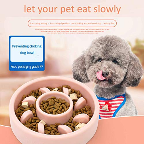 LITENG-Grocery-Store Pet Dog Feeding Food Bowls Puppy Slow Down Eating Feeder Dish Bowel Prevent Obesity Dogs Supplies…