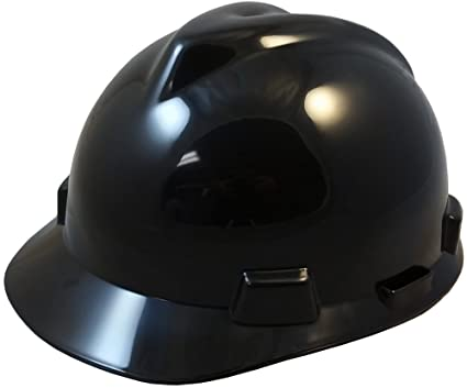 Size Small Color Black MSA V-Guard Small Hard Hat with Ratchet Suspension
