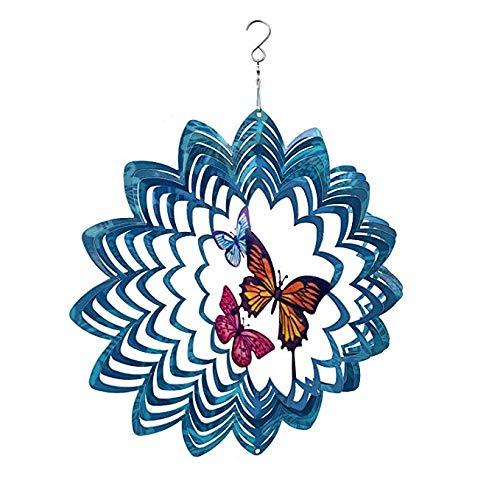 10 best wind spinners outdoor metal butterfly