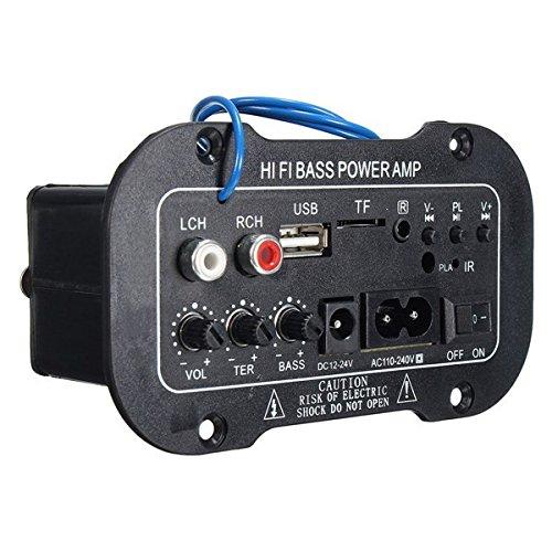 Bluelover Placa De Amplificador Digital Est/éreo 220V Coche Bluetooth Hifi Amplificador De Bajo