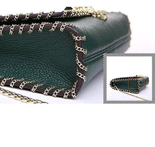 chaîne de d'été femmes la bandoulière cuir à Sac en Green des Iwq6YAB1x