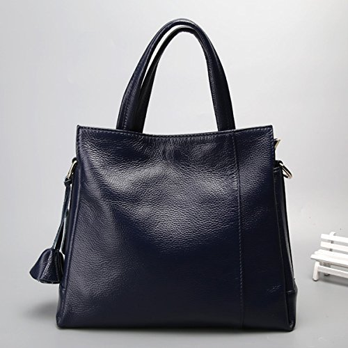 Señora GUANGMING77 Blue Bolsa Bolsa Mediana Bolsas Azul Edad Madre De Bolsa gwqI4xUO