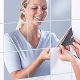 Acrylic Mirror Sheet Flexible Self Adhesive Plastic Mirror Tiles Non Glass Mirror,12 by 12 Inch,4 Pieces