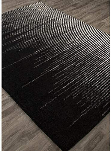 Jaipur Living Tabo Hand-Tufted Abstract Black Area Rug 8 X 10
