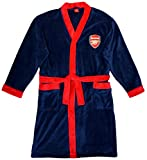Mens Official ARSENAL AFC Fleece Football Dressing Gown Bathrobe sizes M L XL