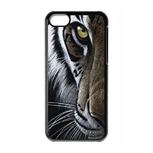 The king of beasts Tiger Hard Plastic phone Case Cover+Free keys stand For Iphone 5c ZDI041059