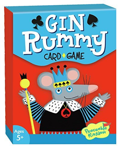 Peaceable Kingdom Gin Rummy Classic Card Game for Kids - 52 Cards with Gift ()