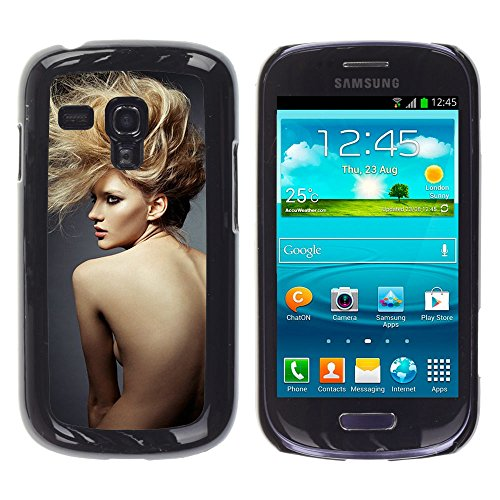 For Samsung Galaxy S3 III MINI (NOT REGULAR!) / I8190 / I8190N Case , Hairstyle Naked Woman Sexy - Colorful Pattern Hard Back Snap-On Cover Case Skin Mobile Phone Shell Bumper (Naked Steampunk Women)