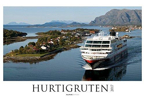 Hurtigruten 2017 - Postschiffe/Norwegen - Bildkalender XXL (68 x 46) - Landschaftskalender - Naturkalender