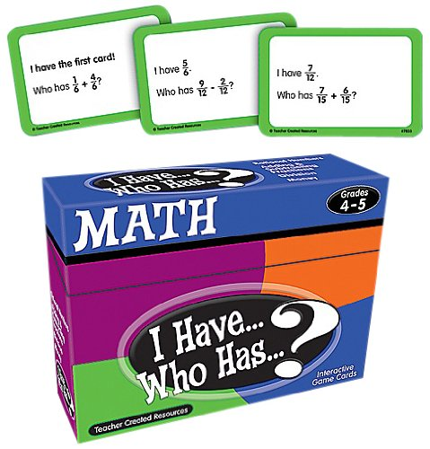 Teacher Created Resources I Have… Who Has…? Math 4-5 (7833)