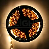 Hitlights Warm White Flexible Ribbon LED Strip Light, 300 LEDs, 5 Meters (16.4 Feet) Spool, 12VDC Input (Adapter not included), Best Gadgets