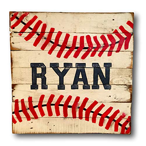 Baseball Sign/Vintage Wood Sports Sign/Boys Bedroom Decor Review