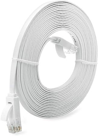 10M Cavo di Rete Ethernet Super Long RJ45 Super Flat ad Alta velocit/à Bianco 10M 1//3//5