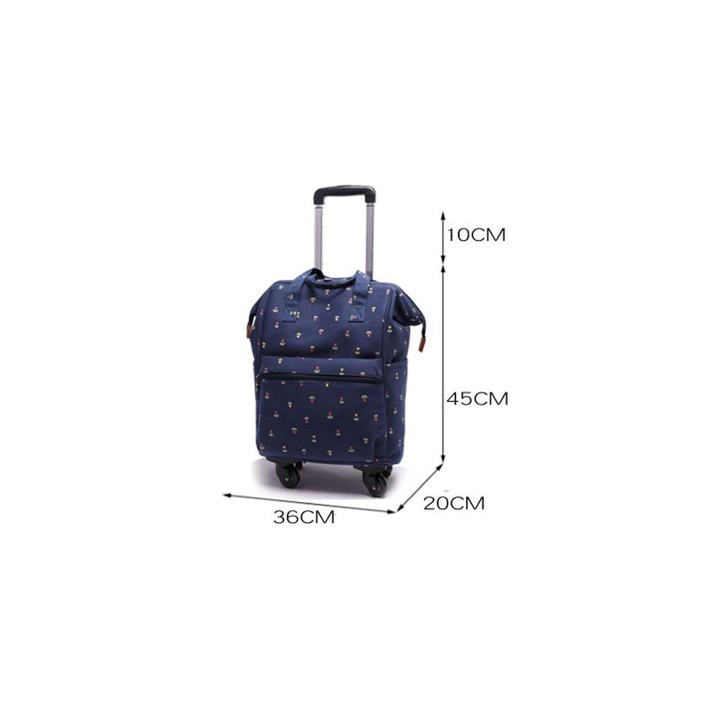 Minmin-lgx Lightweight Rolling Duffel Bag Wheeled Portable Multifunction Travel Bag Color : C