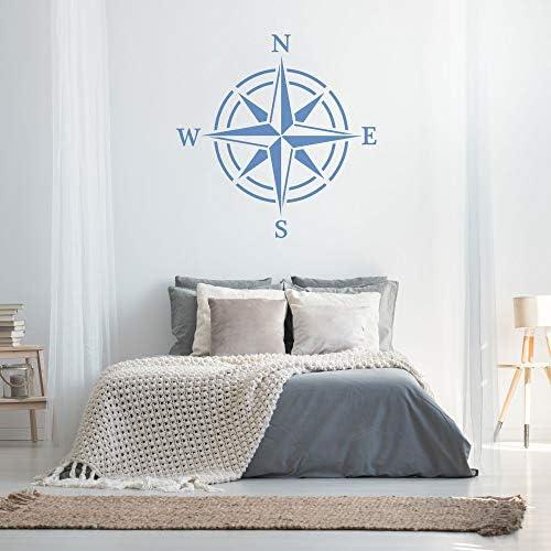 Rose des Vents //// Mod/èle de peinture //// D/écoration murale Pochoir R/éutilisable en plastique //// 130x130cm //// Compas Compass Boussole