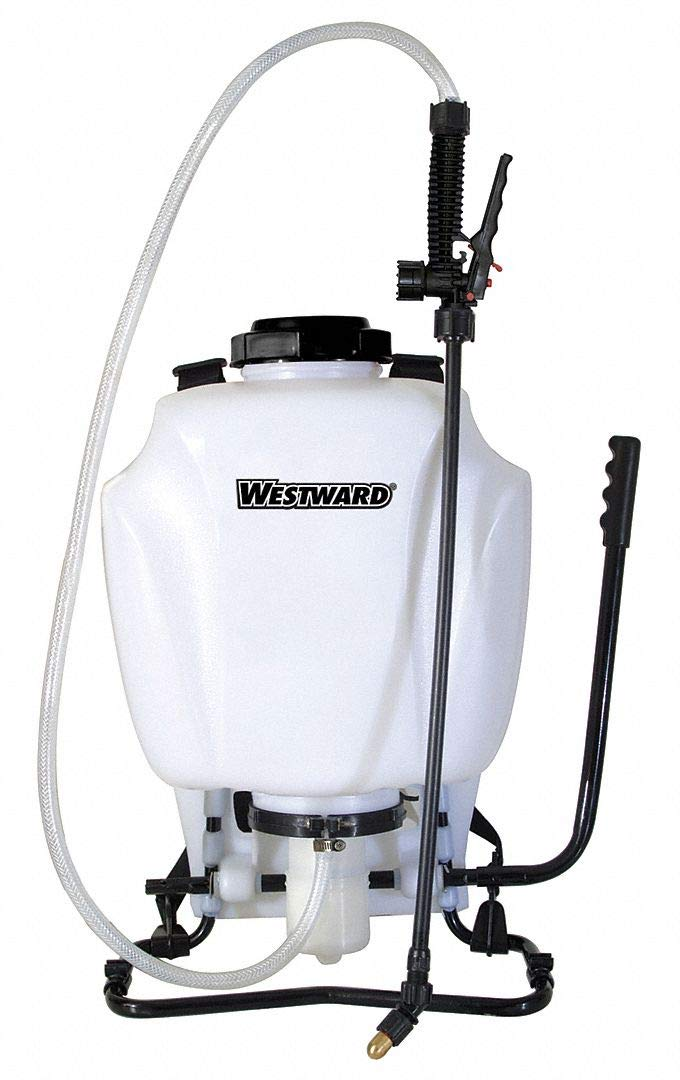 Backpack Sprayer, Polyethylene Tank Material, 4 gal, 80 psi Max Sprayer Pressure by WESTWARD