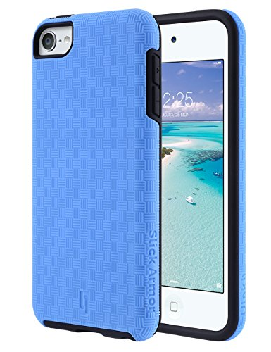 iPod Touch 6 Case,iPod Touch 5 Case,ULAK [ SLICK ARMOR ] Slim-Protection Case for Apple iPod Touch 6 5th Generation (Blue)
