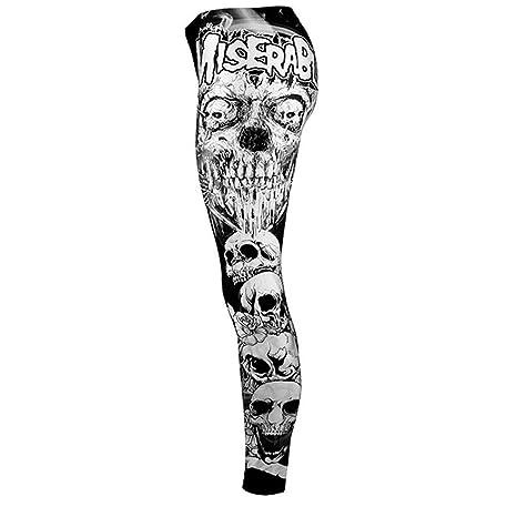 Amazon.com: YKARITIANNA Ladies Digital Skull Printing Fitness Running High-Waist Tight Bottom Pants