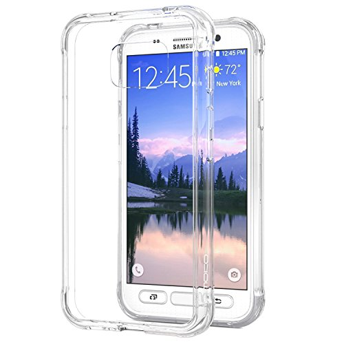 Galaxy S7 Active Case - MoKo [Scratch Resistant] Back Cover with TPU Cushion Technology Corner + Clear Panel for Galaxy S7 Active 5.1, Crystal Clear (Not Fit Galaxy S7 / S7 Edge)