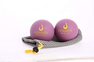 HolisticFit Unlimited Package Manual Massage Balls with Myofascial Release Tools + Therapy Massage 3 Mini Balls