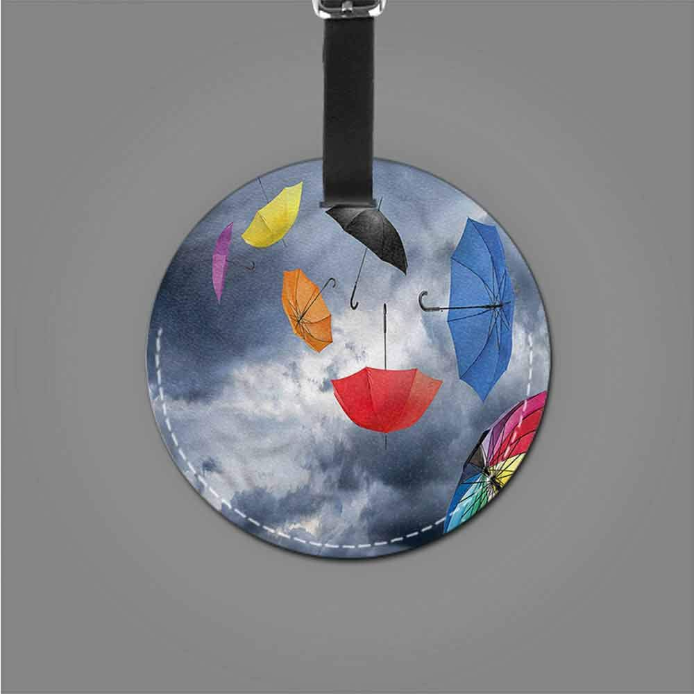 Holder Baggage Colorful,Funky Cheerful Circular Id Tag Suitcase Carry