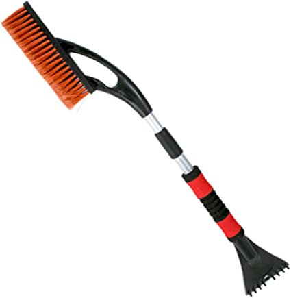 Nordic Trail Collection 29.5 to 37 inches Extendable Snow Removal Brush with Ice Scraper