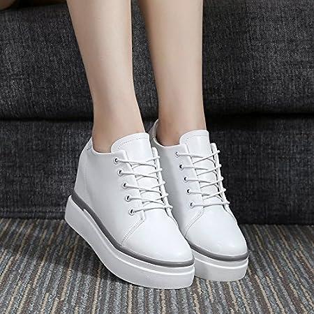 KHSKX-El Aumento De Mujer Zapatos Blancos Corbata Magdalena ...