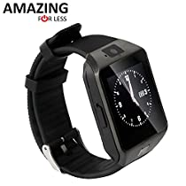 Amazingforless Universal Bluetooth Touch Screen Smart Wrist Watch Phone with Camera - Black